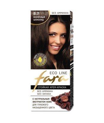 FARA Eco Line 8,7 długotrwała farba do włosów - MLECZNA CZEKOLADA