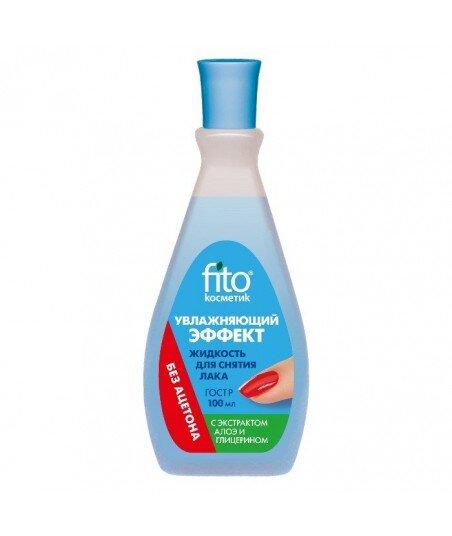 Zmywacz do paznokci bez acetonu z efektem nawilżającym, 100ml Fitokosmetik