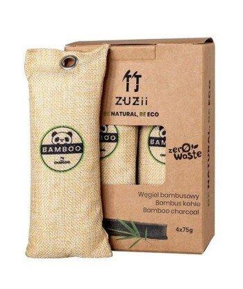 Węgiel bambusowy, naturalny osuszacz powietrza 4 x 75 g