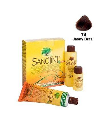 Farba do włosów Light Brown Jasny Brąz 74 Sensitive SanoTint