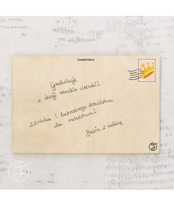 Piękne kwiaty - drewniana kartka pocztowa