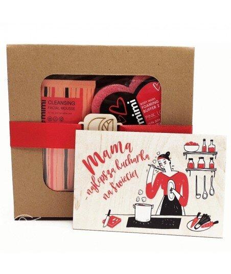 Czerwony zestaw prezentowy