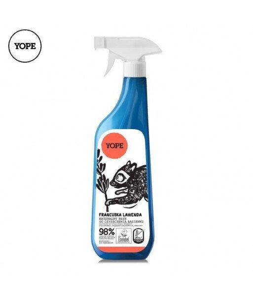 Naturalny płyn do czyszczenia łazienki - Francuska Lawenda, 750ml - YOPE