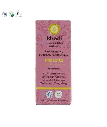 Ajurwedyjski olejek do twarzy i ciała z różowym lotosem Khadi 10 ml