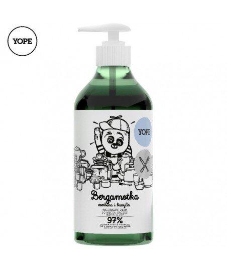 Naturalny płyn do mycia naczyń. Bergamotka, werbena, bazylia, 750ml - YOPE