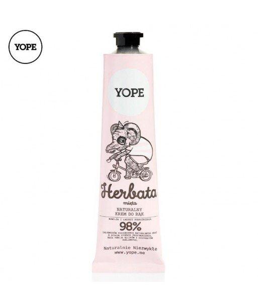 Naturalny krem do rąk HERBATA I MIĘTA, 100 ml - YOPE
