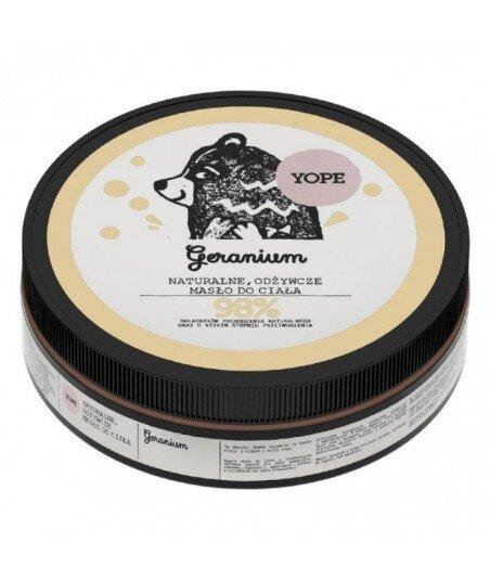 Naturalne masło do ciała odżywcze Geranium 200ml - YOPE