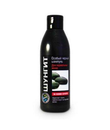 Fratti - specjalny Czarny szampon do włosów normalnych na bazie szungitu