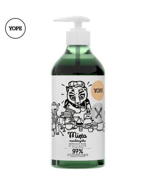 Naturalny płyn do mycia naczyń. Mięta i mandarynka, 750ml - YOPE