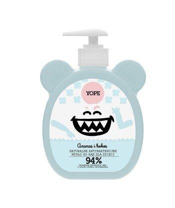 Naturalne antybakteryjne mydło do rąk dla dzieci Ananas i Kokos 400ml - YOPE