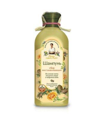 Szampon Agafii - szampon regeneracyjny do włosów osłabionych i zniszczonych - ekstrakt z pączków cedru syberyjskiego, miodunka,
