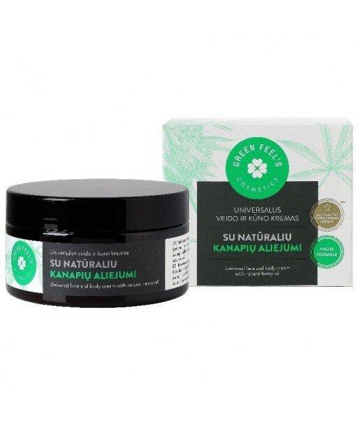 Uniwersalny krem do twarzy i ciała z 100% naturalnym olejem konopnym 200ml GREEN FEEL'S
