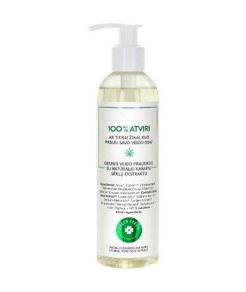 Żel do mycia twarzy z naturalnym ekstraktem z nasion konopi, 250ml GREEN FEEL'S