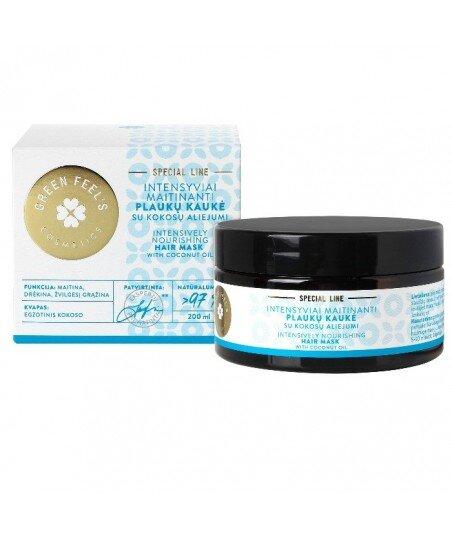 Intesywnie odżywcza maska do włosów z olejem kokosowym 200ml, GREEN FEEL'S
