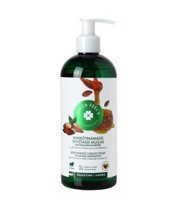 Zmiękczające mydło w płynie z ekstraktem z miodu i migdałów 400ml, GREEN FEEL'S