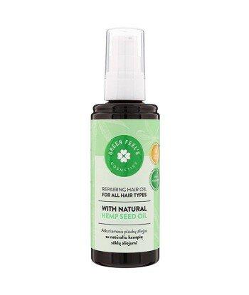 Regenerujący olejek do włosów z naturalnym olejem z nasion konopii 200ml GREEN FEEL'S