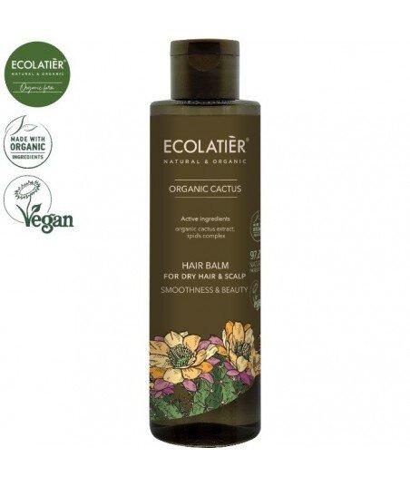 CACTUS Balsam do włosów suchych WYGŁADZENIE I PIĘKNO, 250 ml ECOLATIER