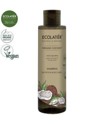 COCONUT Szampon do włosów ODŻYWIANIE i REGENERACJA, 250 ml ECOLATIER
