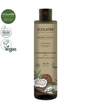COCONUT Szampon-balsam 2w1, 350 ml ECOLATIER