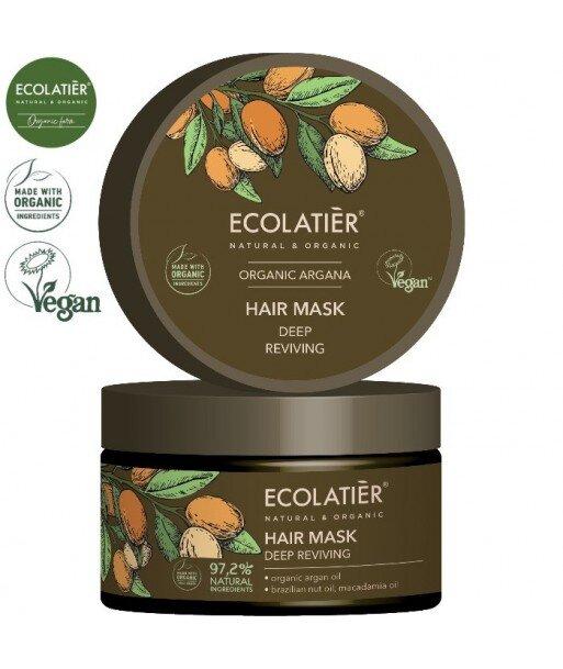 ARGAN Maska do włosów GŁĘBOKO ODŻYWIĄJĄCA, 250 ml ECOLATIER