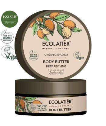 ARGAN Masło do ciała GŁĘBOKIE ODŻYWIENIE, 150 ml ECOLATIER
