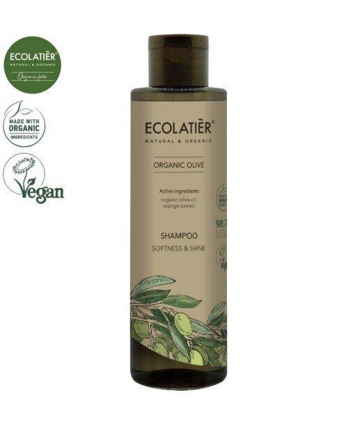 OLIVE Szampon do włosów MIĘKKOŚĆ I POŁYSK, 250 ml ECOLATIER