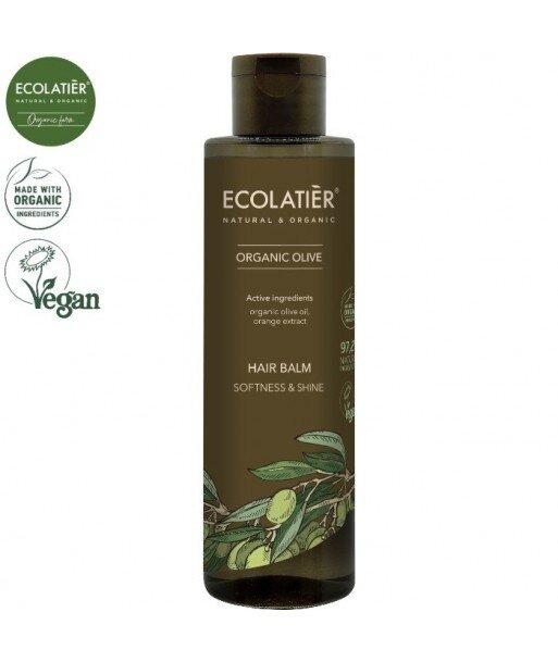 OLIVE Balsam do włosów MIĘKKOŚĆ I POŁYSK, 250 ml ECOLATIER