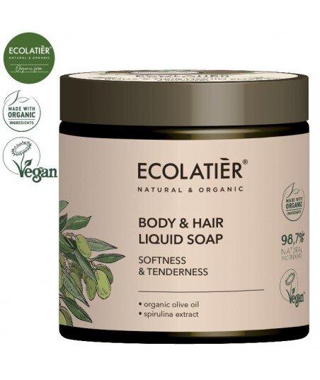 OLIVE Mydło w płynie do ciała i włosów MIĘKKOŚĆ I DELIKATNOŚĆ, 450 ml ECOLATIER