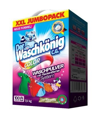 Color proszek do prania 7,5 kg - 100 WL- Der Waschkönig C.G.