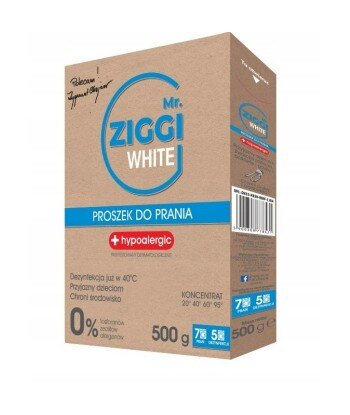 Mr. ZIGGI hipoalergiczny proszek do prania tkanin białych 500 g