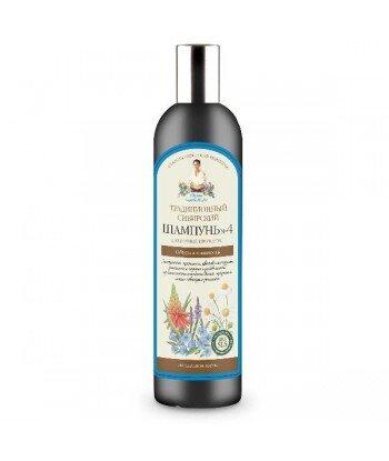 Tradycyjny syberyjski szampon do włosów No 4 na kwiatowym propolisie - puszystość i lekkość w układaniu, 550ml