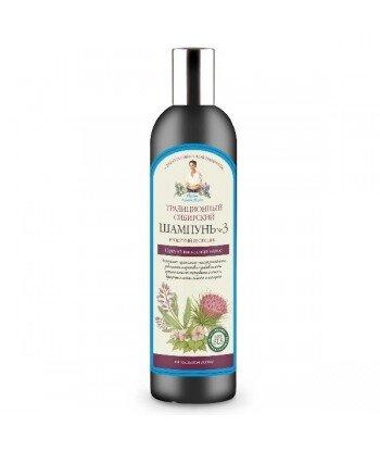 Tradycyjny syberyjski szampon do włosów No 3 na łopianowym propolisie - przeciw wypadaniu, 550ml