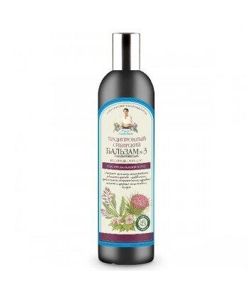 Tradycyjny syberyjski balsam do włosów No 3 na łopianowym propolisie - przeciw wypadaniu włosów, 550ml