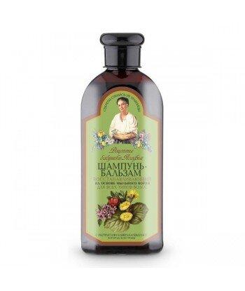 RBA - Szampon-balsam do wszystkich rodzajów włosów - regenerujący - mydlnica lekarska, 350ml