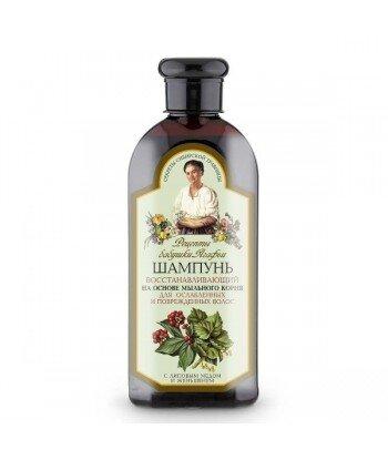 RBA - szampon regeneracyjny do osłabionych i zniszczonych włosów - mydlnica lekarska, żeń szeń, lipowy miód, 350 ml