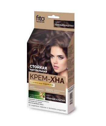 Kremowa-henna indyjska gotowa Ciemny kasztan, 50ml Fitokosmetik