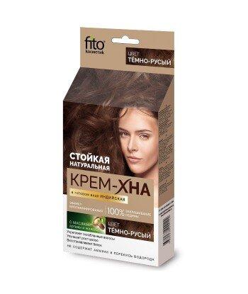 Kremowa-henna indyjska gotowa Ciemny blond, 50ml Fitokosmetik