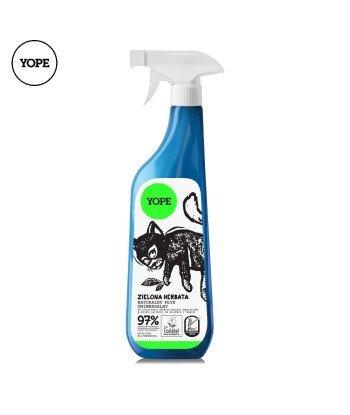 Naturalny płyn uniwersalny do czyszczenia rożnego rodzaju powierzchni w kuchni, łazience - Zielona Herbata, 750ml - YOPE