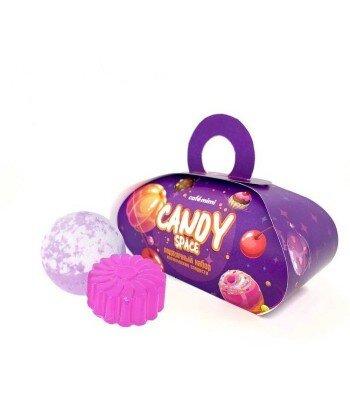 Cafe Mimi zestaw podarunkowy CANDY SPACE mydło glicerynowe 80 + kula do kąpieli 120 g