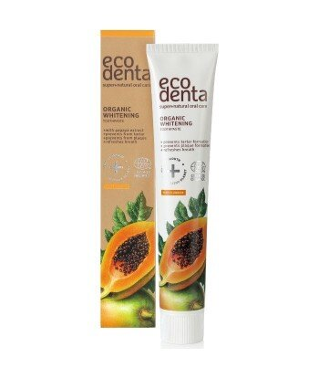ECODENTA COSMOS Pasta do zębów wybielająca z ekstraktem papai, 75ml