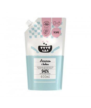 Naturalne antybakteryjne mydło do rąk dla dzieci Ananas i Kokos REFILL 400ml - YOPE