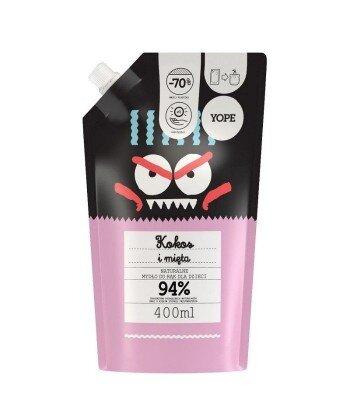 Mydło dla dzieci Kokos i Mięta, REFILL 400 ml - YOPE