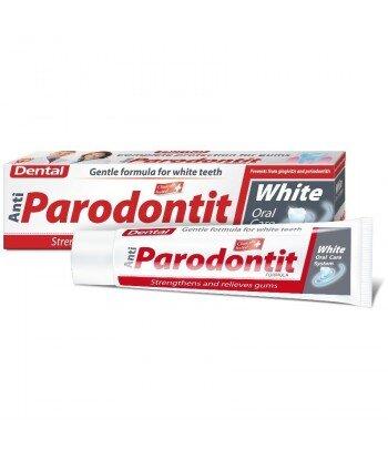 DENTAL Antiparodontit Pasta do zębów Biała wybielająca, 100 ml