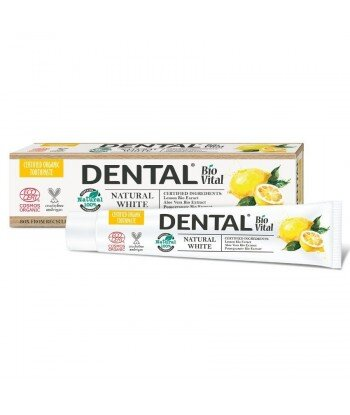 DENTAL BIO VITAL Pasta do zębów Wybielająca NATURAL WHITE, 75 ml