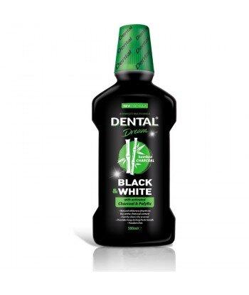 DENTAL Dream Black & White Wybielający płyn do płukania jamy ustnej, 500 ml