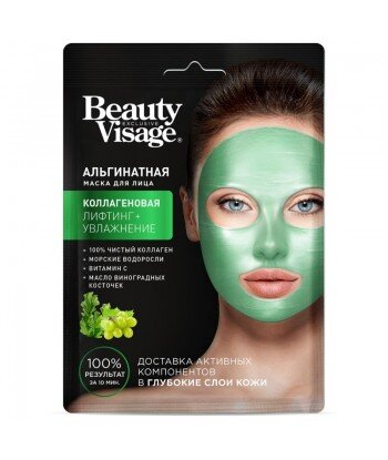 Maska alginatowa do twarzy Kolagenowa Beauty Visage 20 g - Fitokosmetik