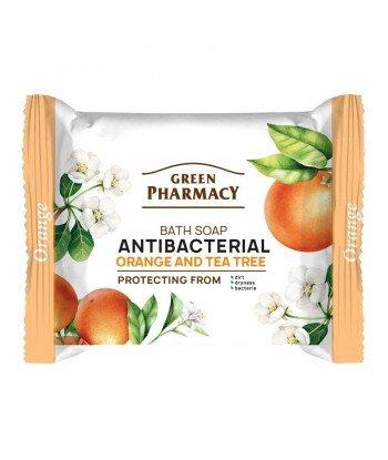 Green Pharmacy Mydło w kostce antybakteryjne Pomarańcza i Drzewo Herbaciane 100g