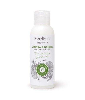 Ekologiczny żel pod prysznic o zapachu limonki i bambusa, Feel Eco, 100 ml