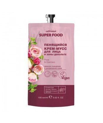 Pieniący się kremowy mus do twarzy i dekoltu, Róża i Oregano, 100 ml - CAFE MIMI