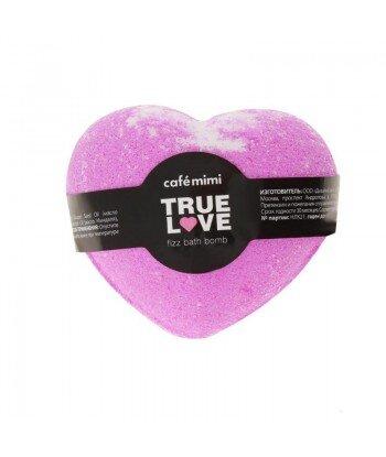 Syczący gejzer do kąpieli, Prawdziwa miłość, (różowy) 115g - CAFE MIMI